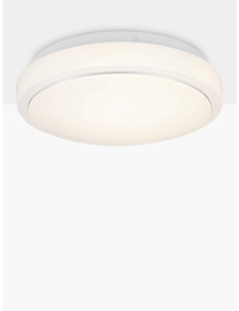 John Lewis & Partners Miles Led Flush Ceiling Light, White by John Lewis & Partners