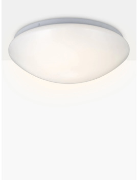 John Lewis & Partners Saint Led Flush Bathroom Light, Opal by John Lewis & Partners