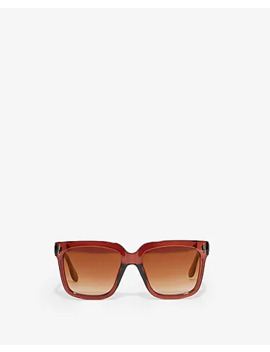 Tinted Red Square Sunglasses by Express