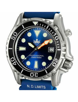 Phoibos 1000 Meter Dive Watch, Sapphire Crystal, Swiss Quartz Movement #Px005 B by Phoibos