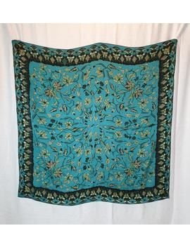 Large Floral Silk Scarf In The Style Of William Morris. by Etsy