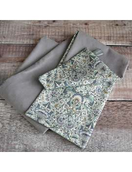 Liberty Print Scarf   William Morris Liberty Lodden And Grey Velvet Scarf   Grey Scarf by Etsy