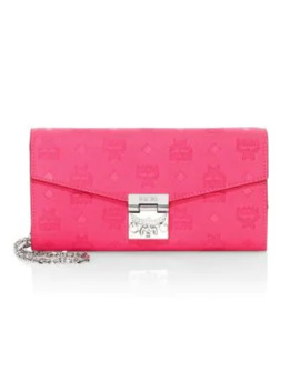 Large Patricia Monogram Leather Wallet On Chain by Mcm