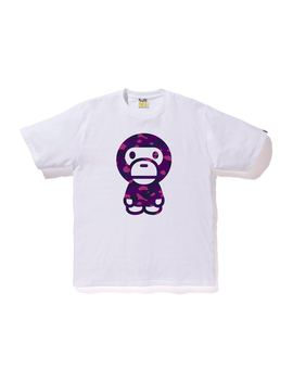 Bape Color Camo Baby Milo Tee White/Purple by Stock X