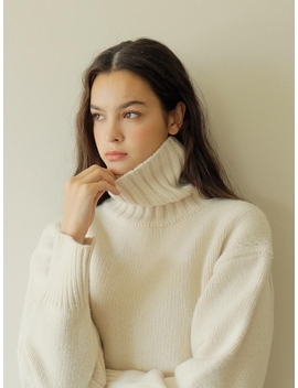 Cashmere Pullover Ivory by Paul & Alice