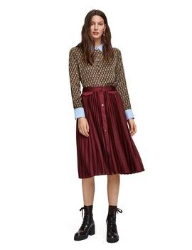 Pleat Midi Skirt by Scotch & Soda