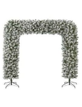 Premier Flocked Christmas Tree Arch 2.4m 8ft [Tr800 Etaf] by Ebay Seller