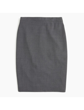 Petite No. 2 Pencil® Skirt In Italian Stretch Wool by Petite No. 2 Pencil
