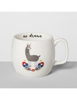 16oz Porcelain No Drama Llama Mug White   Opalhouse™ by Opalhouse
