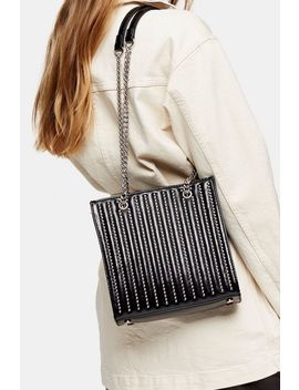 Toff Black Studded Tote Bag by Topshop