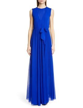 Belted Gathered Maxi Dress by Fuzzi