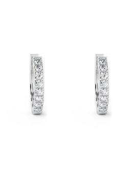 0.3ct Diamond & White Gold Hoops by Buy Fine Diamonds