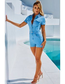 Annet Playsuit   Light Denim by Babyboo Fashion