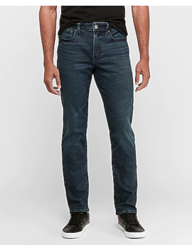 Slim Dark Wash Hyper Stretch Tough Jeans by Express