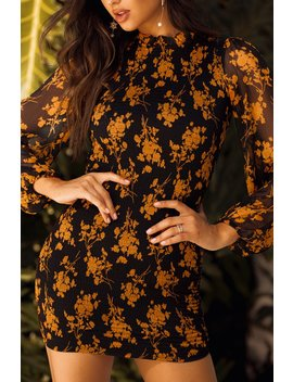Villa Del Sol Dress   Black Floral by Miss Lola