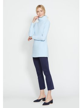 Ice Blue Cobble Hill Turtleneck In Terry Fleece by Dudley Stephens