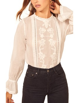 Bessie Lace Top by Reformation