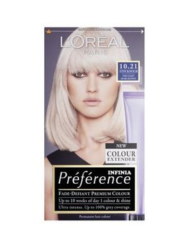 L'oreal Preference Infinia 10.21 Stockholm Very Light Pearl Blonde Hair Dye by L'oreal
