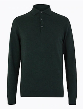Knitted Long Sleeve Polo Shirt by Standard Delivery :