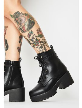 Stud Lace Up Booties by Koi Footwear
