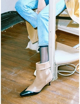 Sj19208 Western Boots Black Brown by Salondeju