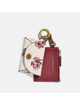 Dual Card Case With Floral Print by Coach
