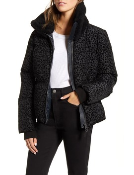 Mely N Genuine Shearling Trim 800 Fill Power Down Puffer Jacket by Mackage