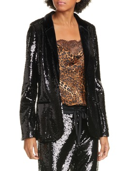 The Lennon Sequin Blazer by Cami Nyc