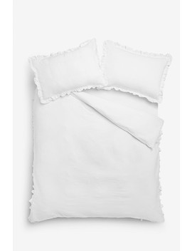 Ruffle Edge Duvet Cover And Pillowcase Set by Next