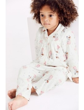 Ecru Fairy Traditional Button Through Woven Pyjamas (9mths 8yrs) by Next