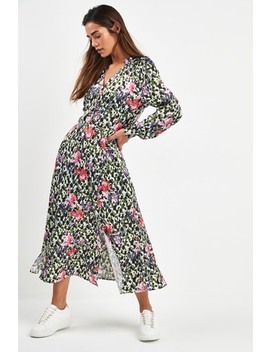 Floral Satin Midi Dress by Next