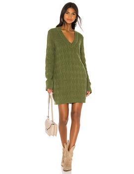 Ambrosia Sweater Dress In Evergreen by Tularosa