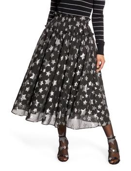 X Atlantic Pacific Star Chiffon Midi Skirt by Halogen®