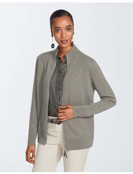 Cashmere Zip Front Cardigan by Lafayette 148 New York