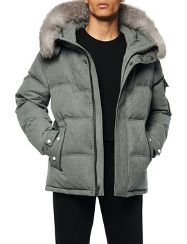 Koriabo Down Jacket With Removable Genuine Fox Fur Trim by Andrew Marc