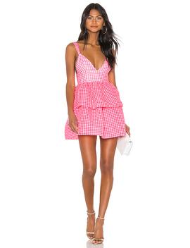 Rita Mini Dress In Neon Pink & White by Nbd