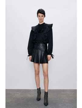 Suknja Bermude Od Umjetne KoŽe by Zara