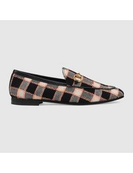 Women's Gucci Jordaan Tweed Loafer by Gucci