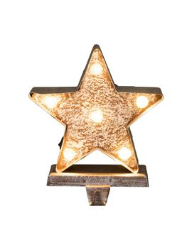 7.5 In. H Marquee Led Lighted Christmas Stocking Holder Star by Glitzhome