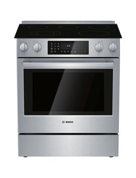800 Series 30 In. 4.6 Cu. Ft. Slide In Electric Range With Self Cleaning Convection Oven In Stainless Steel by Bosch