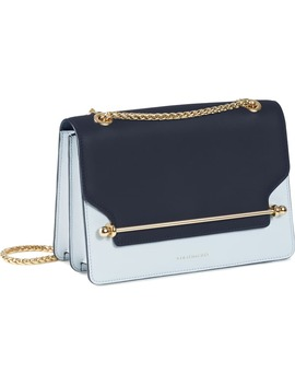 East/West Bicolor Leather Crossbody Bag by Strathberry