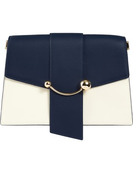 Crescent Tricolor Leather Shoulder Bag by Strathberry