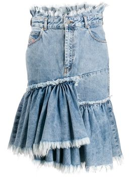 Frayed Edge Denim Skirt by Diesel