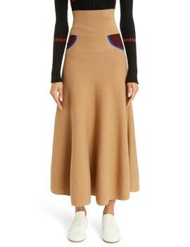 Trompe L'oeil Cashmere Midi Sweater Skirt by Loewe