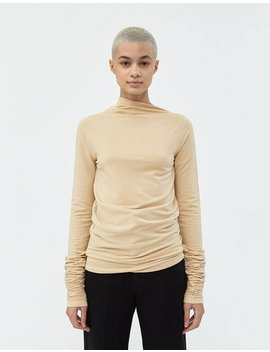 Super Long Sleeve Sweater In Ginger Beige by Lemaire Lemaire