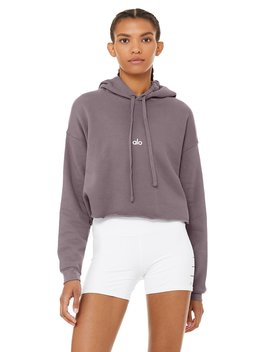 Cropped Graphic Hoodie by Aloyoga