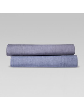Vintage Wash Chambray Sheet Set   Threshold™ by Shop Collections