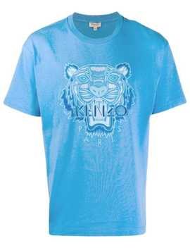 T Shirt Med Broderad Tiger by Kenzo