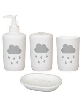 Bathroom Set 4pc   Cloud by B&M