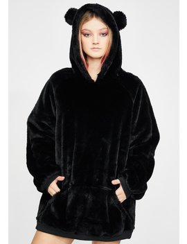 Grizzly Groover Faux Fur Hoodie by Club Exx